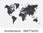 illustrated world map with the... | Shutterstock . vector #584776231