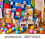kindergarten interior...   Shutterstock . vector #584776321