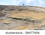 The Surface Of Stone Mountain....