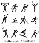 sport game icon symbol.vector | Shutterstock .eps vector #584780647