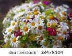 beautiful summer flowers - stock photo