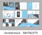 vector blue presentation... | Shutterstock .eps vector #584782375