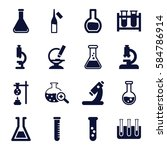 lab icons set. set of 16 lab... | Shutterstock .eps vector #584786914