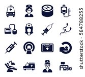 clinic icons set. set of 16... | Shutterstock .eps vector #584788255