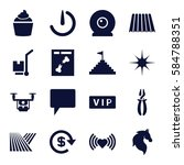 shadow icons set. set of 16... | Shutterstock .eps vector #584788351