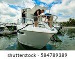 miami beach  fl usa   february... | Shutterstock . vector #584789389