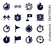 finish icons set. set of 16... | Shutterstock .eps vector #584790181