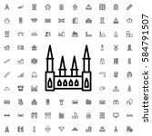 castle icon illustration... | Shutterstock .eps vector #584791507