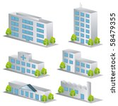 3d building icons set.... | Shutterstock .eps vector #58479355