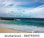 tropical beach  bahamas | Shutterstock . vector #584793955
