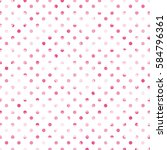pink polka dot pattern on white ... | Shutterstock . vector #584796361