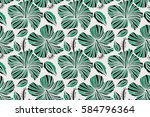 floral pattern for wedding... | Shutterstock . vector #584796364