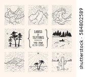 hiking  traveling  recreation... | Shutterstock .eps vector #584802589