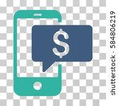 money phone sms icon. vector... | Shutterstock .eps vector #584806219
