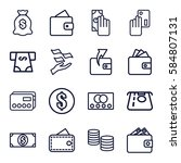 pay icons set. set of 16 pay... | Shutterstock .eps vector #584807131