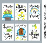 Spring Card Set With Spring...