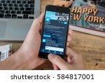 chiangmai  thailand  jan 16... | Shutterstock . vector #584817001