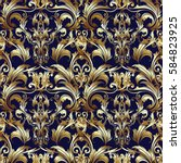 royal antique damask vector...   Shutterstock .eps vector #584823925