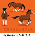 Horse Clydesdale Cartoon Vecto...