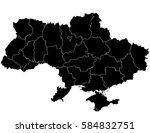 vector ukraine map on white... | Shutterstock .eps vector #584832751