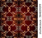 Damask Seamless Pattern. Flora...