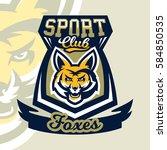 colorful logo  mascot  a fox's... | Shutterstock .eps vector #584850535