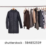 female clothing different coat... | Shutterstock . vector #584852539