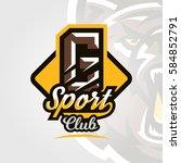 colorful logo  emblem  letter... | Shutterstock .eps vector #584852791