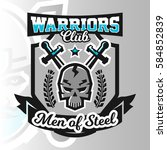 colorful logo  emblem  skull... | Shutterstock .eps vector #584852839