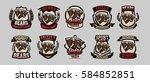 set of colorful emblems  logos  ... | Shutterstock .eps vector #584852851