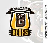 colorful logo  emblem  letter... | Shutterstock .eps vector #584852875