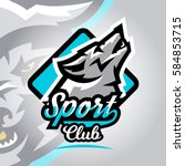 colorful logo  emblem  a wolf... | Shutterstock .eps vector #584853715