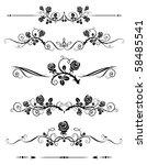decorative elements | Shutterstock .eps vector #58485541
