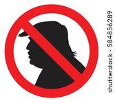anti president donald trump...   Shutterstock .eps vector #584856289