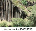 Volcanic Rock Formations At...