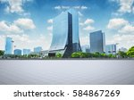 modern business building with... | Shutterstock . vector #584867269