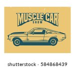 vintage retro old school... | Shutterstock .eps vector #584868439
