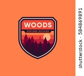 woods badge graphic emblem logo ... | Shutterstock .eps vector #584869891