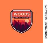 woods badge graphic emblem logo ...   Shutterstock .eps vector #584869891