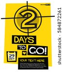 2 days to go   flat style... | Shutterstock .eps vector #584872261