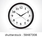abstract clock icon vector... | Shutterstock .eps vector #58487308