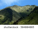 views of mountain peaks merbabu | Shutterstock . vector #584884885