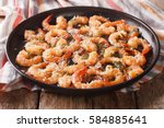 flavorful food  shrimp in... | Shutterstock . vector #584885641