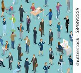 seamless tile of people in the... | Shutterstock .eps vector #584892229