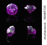 round amethyst  isolated on... | Shutterstock . vector #58489735