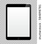 realistic tablet with blank or... | Shutterstock .eps vector #584898781