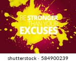 fitness motivation quotes | Shutterstock . vector #584900239