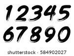 set of grunge numbers.vector... | Shutterstock .eps vector #584902027
