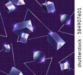 80's style seamless pattern. | Shutterstock .eps vector #584907601