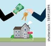 real estate concept....   Shutterstock .eps vector #584911894